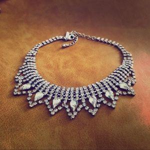 Jewelry - Rhinestone Choker Necklace Worn to Oscars